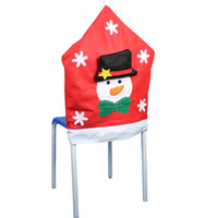 acrylic dinning chair - Christmas Decorations Chair Back Cover Santa Clause Snowman Deer Chair Cover for Xmas Home Resturant Dinning Room