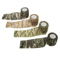 Wholesale 5CMx4 M Roll Reusable Outdoor Camouflage Tape Hunting Camping Cycling Wrap Elastic Tactical Stealth Gun Tape Y0469