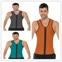 Wholesale 2015 Hot Men s Body Shaper Weight Loss Workout Exercise Sport Neoprene Vest Sauna Tank Top Waist Trainer Gym Slimming Waist Training Corsets