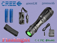 Wholesale UltraFire CREE XM L T6 Lumens Zoomable LED Flashlight Torch Light Authentic CREE XM L T6 Mode rechargeable LED CREE