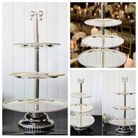 baby cake shop - Top Sale Layers Cake Desserts Stands Plate For Wedding Baby Birthday Home Hotel Party Table Decoration Metal Cake Shop Suppliers Cheap