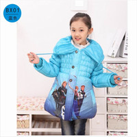 Wholesale New Cinderella princess girls Cotton padded Clothes For children Parkas Coats Winter Thickening Outerwear Down Coat girls clothing
