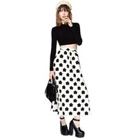 Cheap HYD 2015 Fashion New Clear fresh air full print skirts long white roses