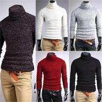 I nuovi Mens Maglie Camicie Popolare Cotone termica tartaruga Dolcevita Slim Top Stretch skivvy Plus Size Pullover dolcevita
