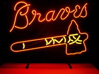 atlanta business - Business Custom NEON SIGN board For MLB ATLANTA BRAVES REAL GLASS Tube BEER BAR PUB Club Shop Light Signs quot