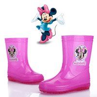 kids rain boots - Shoes Kids Minnie Mouse Girls Rain Boots New Arrival High Quality Hot Sale PVC Promotion Unisex Summer Winter Fashion Warm