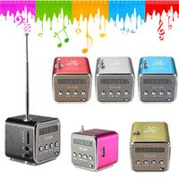 Wholesale New High Quality Fashion Portable Micro USB Stereo Speaker FM Radio For iPad For iPhone For Samsung