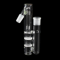 Wholesale Hot sales mm Joint Degree Glass Ash Catcher Glass Percolator For Glass Bong Glass Water Pipes Hookahs Accessories PA207 Free Shupping