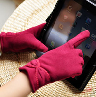 Wholesale Super Warm Lady Girl Winter Glove Capacitive Touch Screen Gloves for iphone for ipad for Smart phone Five Finger Gloves