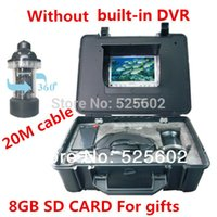 Wholesale Underwater Fishing Camera HD quot LCD Screen SONY CCD With m Cable Camera Nightvision Can Rotate degree