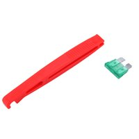 Cheap Wholesale-Blade Glass Fuse Puller Insertion Tool Standard ATS Car Feses Box FUP2 Clip Holder Protector Tap Tablet Plug Car Accessories