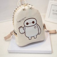 Wholesale 2016 New Version Big Hero Baymax hello schoolbag backpack Suitale for Boys and Girls