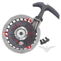 Wholesale ALU Pull Start Recoil Starter w Bolt for cc Stroke Pocket Bike Mini ATV Drop Shipping