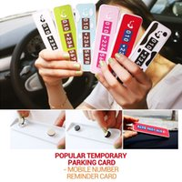contact number - Novel temporary car parking quot CALL ME quot sticker car shift contact phone number notice post plate park car accesories four colors