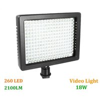 Wholesale Hot Sale HD LED Video Light Lamp W LM K K Dimmable for Canon Nikon Pentax DSLR Camera Video Camcorder free shi