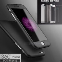Wholesale Luxury Hybrid Tempered Glass Full Body Acrylic Hard Front Back Case Cellphone Skin Cover For Iphone inch