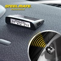 Wholesale Steelmate DIY TP S1 Car StyleSmall Solar Energy Tire Pressure Monitoring System LCD Wireless Display External Sensor Battery Chargeable