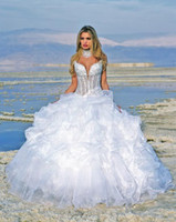 Wholesale Wiping a bosom of pure white wedding dress has a fold of sexy wedding dress the bride bal gown wedding dress