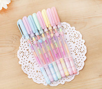 Wholesale beautiful girls boys Stationery Pilot Pen Crystallise Colors in pen Changing Gel Ink Color Highlighters