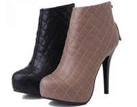 shoes australia - 2015 fashion sexy knight female ladies high heels platform high heel ankle boots for women and woman autumn winter shoes botas australia