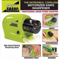 Wholesale SF to USA Pro Electric Knife Sharpener kitchen Knives Blades Drivers Swifty Sharp Tools at stock