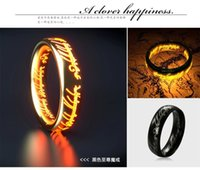 lord of the ring - Top Sale Brand Weeding Stainless Steel THE LORD OF THE RINGS Engagement Ring Couples Promise Jewelry Prayer Size MR0001 UPVO BRAND