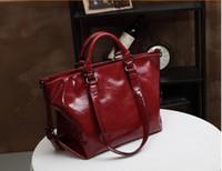 Wholesale Five Color Brand New big Fashion Women s Handbag bag Purses PU Leather fashion Shoulder Bags Retro Handbag bag Messenger Bag free ship