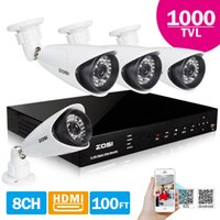 Wholesale ZOSI Video Security CCTV CH H H DVR x TVL CMOS IR Leds Day Night ft Outdoor Camera Home Surveillance System