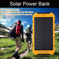 Wholesale Portable Solar Power Bank mAh Bateria Externa Carregador de bateria portatil Power Bank Solar Charger LED for iPhone HTC LG