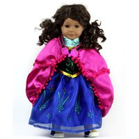 18 doll - Fashion Christmas Gifts For Children Girls Doll Accessories Princess Frozen Anna Dress For Fashion American Girl Doll