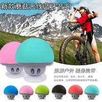 Wholesale Creative wireless Bluetooth small speaker suction cup mini computer mobile phone mushroom small portable outdoor bass