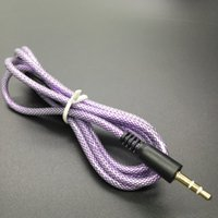 audio speaker mesh - Braided Mesh Audio AUX Cable mm Rubber Extension Auxiliary Stereo Male m ft Cord for Iphone Samsung Speaker MP3 MP4