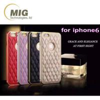 apple model number - High end fashion metal frame PU leather back style design Mobile phone cover for iPhone S s plus Phone case Model Number IPS6 L080