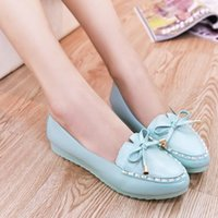 Slip-On boat shoes - Spring New arrival flat boat Shoes casual Flat heels Shallow Mouth rhinestone Lazy Mother Shoe Drive rhinestone work shoes