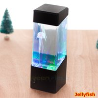 aa aquariums - Hot sale New Portable AA Batteries Indoor Night Light christmas best lights Mini Fish Tank Electronic Jellyfish Aquarium With W LED Light