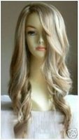 Wholesale Fashionable long curly hair make the hair blond wig