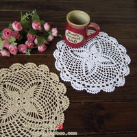 accessories pics - pic cotton knitted white doilies for wedding table pads as tableware dinning table accessories for home mats