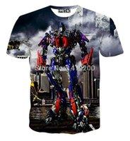 bell transformer - 2016 summer Optimus Prime t shirts Men Transformers Blaster D Print t shirt cropped cartoon fiction Women clothing brand