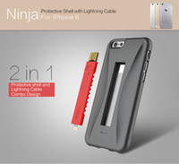 Wholesale ROCK Ninja Series protective shell with lightning cable for iphone PC silicone minimalist and fashionable style