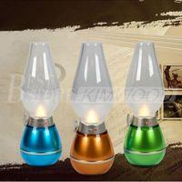 Luz golpe clássico Retro LED USB lâmpada recarregável soprando lâmpada de querosene controle mesa regulável portátil / lâmpada de cabeceira luz