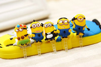 Wholesale Despicable Me Minions beautiful dust for iphone Samsung iPad mobile dust proof accessories Cell Phone Dust proof plug a983