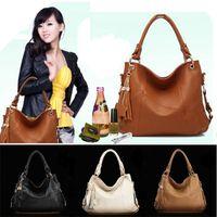 Women fancy bags - 2015 Hot European American Style Fashion Fancy Women Oil Wax Genuine Leather Messenger Bag Hobo Tassel Tote Handbag Shoulder Bag