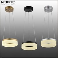 modern lighting pendant - Modern Ring LED Pendant Light Fixture Round Acrylic Chandelier Lights LED Lamp Small Aisle Porch Suspension Light Price for pc Only
