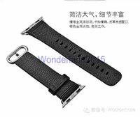 Wholesale 1 free ePacket shipping Original real leather watchband for mm mm APPLE watch iwatch wrist band