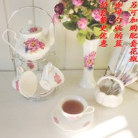 afternoon tea sets - afternoon tea coffee set butterflies tea coffee cup holder pot cup and saucer set high quality