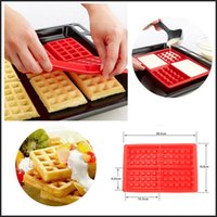 Wholesale Safety Cavity Waffles Cake Silicone Mold Cake Chocolate Desert Pan Baking Silicone Mould kitchen Cooking tools