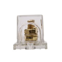 automotive gold plating - In stock Car ANL Fuse Holder Block Gold Plated For Car Audio Gauge Automotive Car Accessory