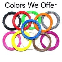 Cheap 20 colors 1.75mm 3mm 3D Printer Filament PLA Reprap 3D Printing Consumble 3D Printer Pen