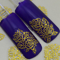 Wholesale 3D gold Decal Stickers Nail Art Tip DIY Decoration stamping Manicure
