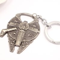 Wholesale Star Wars keychains fashion Star Wars Millennium Falcon Metal Alloy Bottle Opener movie keyring jewelry gift D11